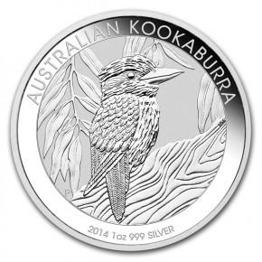 1 oz Silber Kookaburra 2014 in Kapsel  ( diff.besteuert nach §25a UStG )