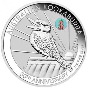1 oz Silber Kookaburra ANDA Melbourne Pink Common Heath - max 2.000 Stk im Blister ( diff.besteuert nach §25a UStG )