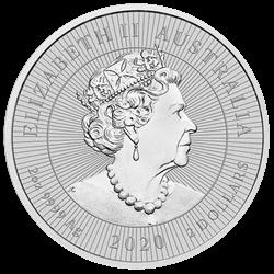 2 oz Silber Perth Mint Piedfort Kookaburra with Baby 2020 ' Next Generation Series - max. 75.000 '  ( diff.besteuert nach §25a UStG )