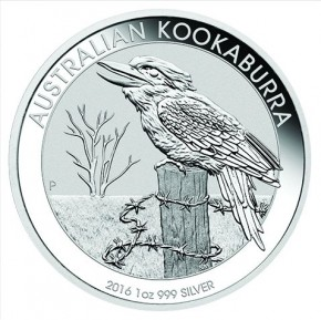 1 oz Silber Kookaburra 2016 in Kapsel  ( diff.besteuert nach §25a UStG )