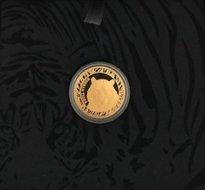 1/4 oz Gold Korean Tiger 2016 inkl. Box ( Komsco )