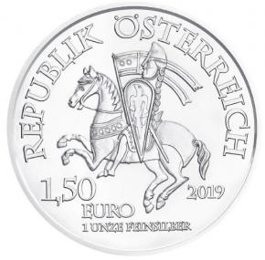 """1 oz Silber Österreich """" 825 Jahre Münze Österreich """" Leopold V ( diff.besteuert nach §25a UStG )"""