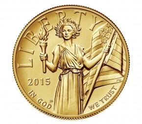 1 oz Gold USA High Relief