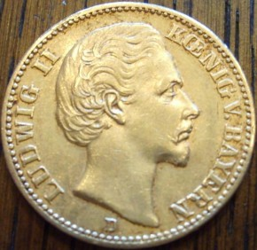 20 Mark Bayern Ludwig II  ( 7,16 Gramm Gold fein )