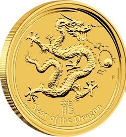1/4 oz Gold Drache Lunar II 2012
