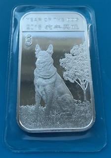 1 oz Silber Lunar Hund