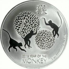 1 oz Silber Lunar Monkey / Affe