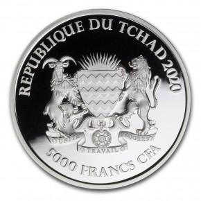 1 oz Silber Chad 2020 Mandala Hippo / Flusspferd - max. Mintage 10.000 ( diff.besteuert nach §25a UStG )