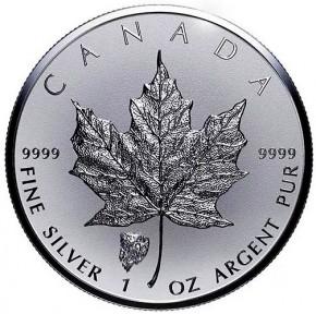 """1 oz Silber Maple Leaf Reverse Proof """" Privy Mark Bison  """" / Auflage max. 50.000 ( diff.besteuert nach §25a UStG )"""