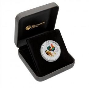 1/4 oz Silber Melbourne Coin Show Silber Hahn 2015 Colour inkl. Box / COA - max. 2.500  ( diff.besteuert nach §25a UStG )