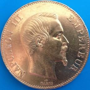 100 Francs Frankreich - Napoleon III 1858 A