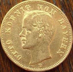 20 Mark Bayern Otto - ( 7,16 Gramm Gold fein )
