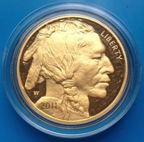 1 oz Gold Buffalo 2010 Proof in Originalkapsel