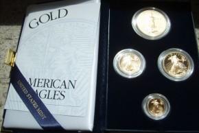 1,85 oz Gold Proof Eagle Set 2004 ( alle 4 Stückelungen inkl. Box - 1 oz & 1/2 oz & 1/4 oz und 1/10 oz  )