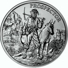 1 oz Silber Round Prospector