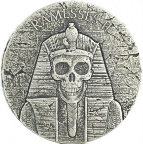 2 oz Silber Tschad Ramses / Ramesses after life