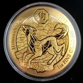 1 oz Gold Ruanda Lunar