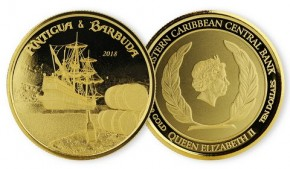 1 oz Gold Antigua & Barbuda Rum Runner Scottsdale Mint / in Certi-Card ( Auflage 2.500 )