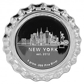 6 Gramm Silber Bottle Cap Skyline New York Bullionexchange gelb ( 19% Mwst )