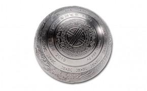1 Kilogramm Silber 30th Anniversary Dragon and Phoenix Sphere Ball - 999 Silber ( inkl. gesetzl. Mwst )