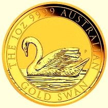 1 oz Gold Swan / Schwan in Kapsel Perth Mint - max. Auflage 5.000