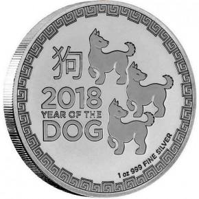 1 oz Silber Lunar Dog / Hund