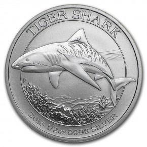 1/2 oz Silber Australien Tiger Shark  / Tigerhai - 2016 ( diff.besteuert nach §25a UStG )