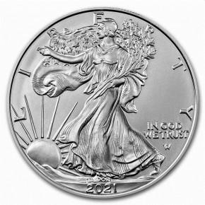 1 oz Silber USA Eagle Type 2 Erstausgabe 2021 ( diff.besteuert nach §25a UStG )