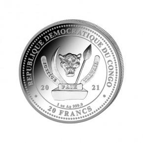 "1 oz Silber Congo Bald Eagle 2021 "" World's Wildlife "" - max 30.000 ( diff.besteuert nach §25a UStG )"