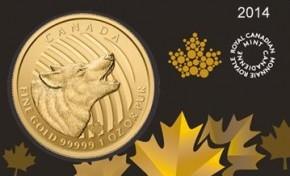 1 oz Gold 99999 Canada Wolf