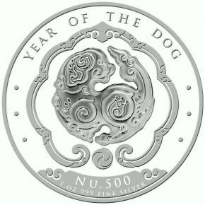 1 oz Silber Königreich Bhutan Lunar Dog / Hund
