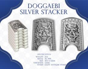 "2 oz Silber Korea Stacker "" Doggaebi Antique Finish ( inkl. gesetzl. Mwst )"