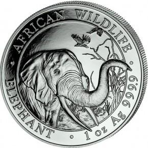 1 oz Silber Somalia Elefant 2018 ( diff.besteuert nach §25a UStG )